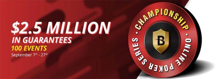 BetOnline's $2.5 Million Poker Tournament Series Kicks Off