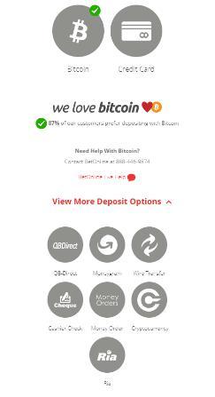 betonline banking and deposit options