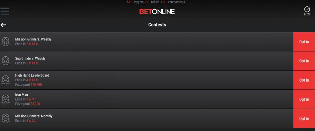 betonline weekly and monthly contests