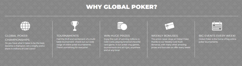 global poker features