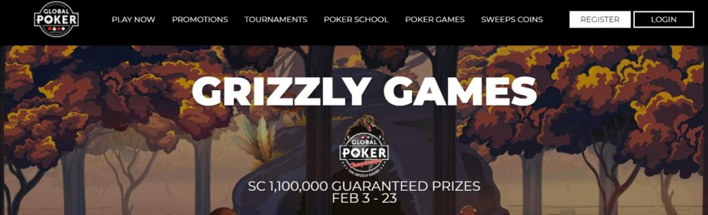 global poker tournaments guaranteed prizes grizzly games