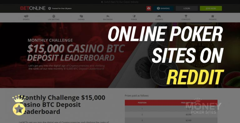 Best Online Poker Sites on Reddit