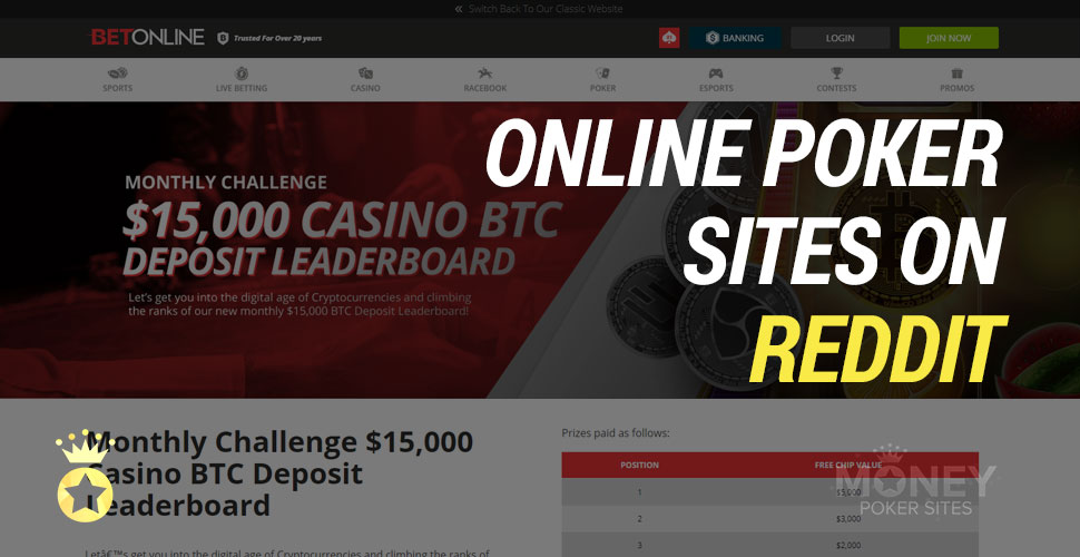 image of the best online poker sites according to reddit