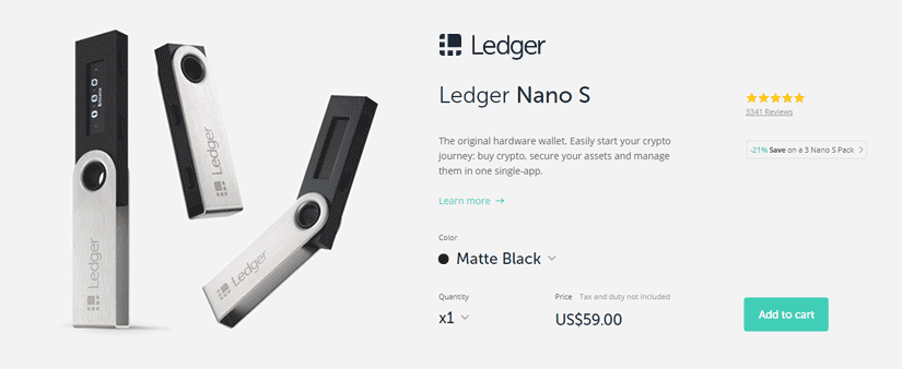 image of the ledger nano s bitcoin wallet