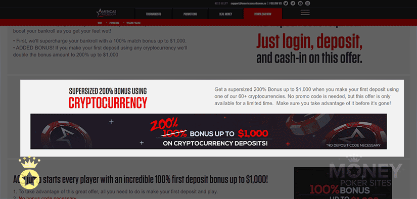 image of cryptocurrency poker site americas cardroom