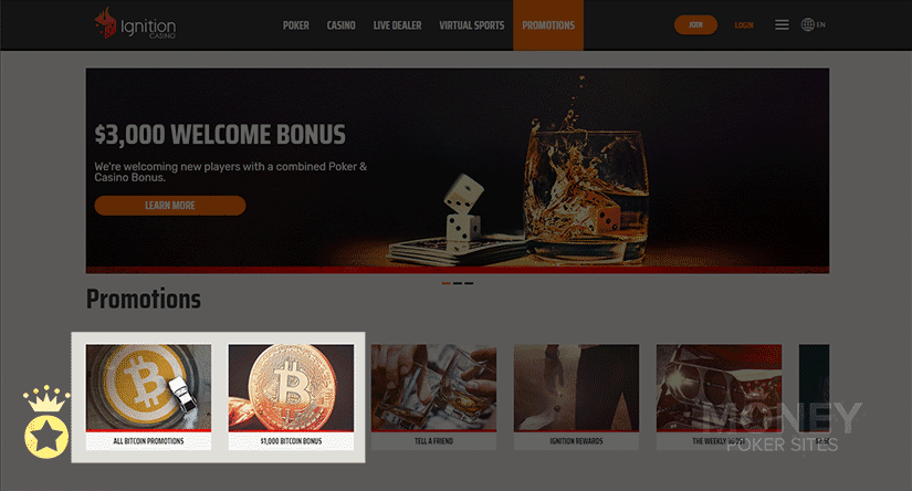 image of cryptocurrency poker site ignition