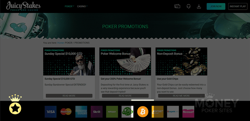 image of cryptocurrency poker site juicy stakes