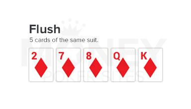 flush poker hand image