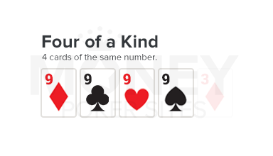 four of a kind poker hand image