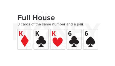 full house poker hand image