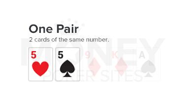 one pair poker hand image