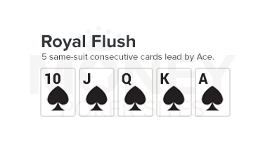 royal flush poker hand image