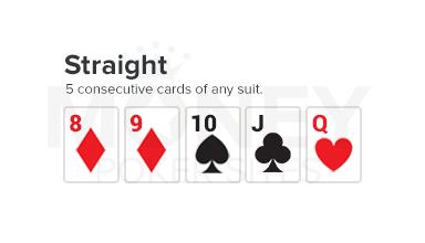 straight poker hand image