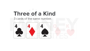 three of a kind poker hand image